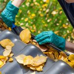 prevent water damage by cleaning gutters