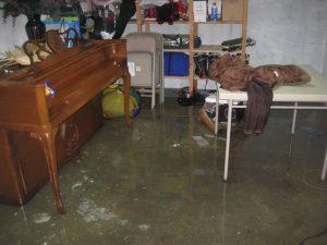 basement flooding removal